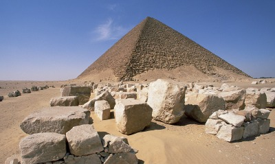White Pyramid of King Snefru, Dahshur, Egypt