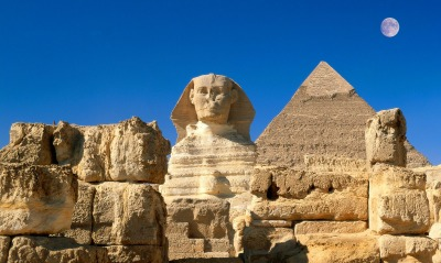 Great Sphinx, Chephren Pyramid, Giza, Egypt
