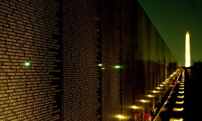 Night View, Vietnam Veterans Memorial