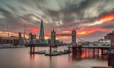 лондон темза река закат London Thames river sunset